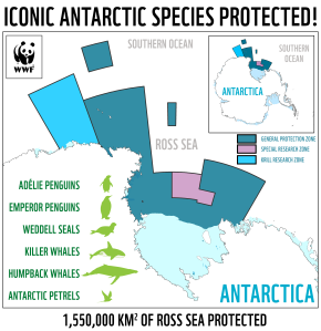 A map of the Ross Sea protected area released by WWF