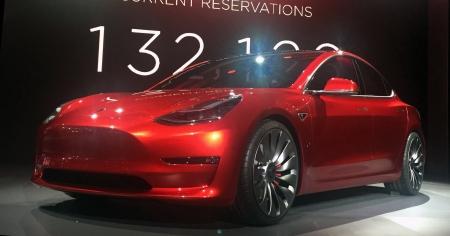 The Model 3 (Photo: Steve Jurvetson [CC BY-SA 4.0] creativecommons.org)